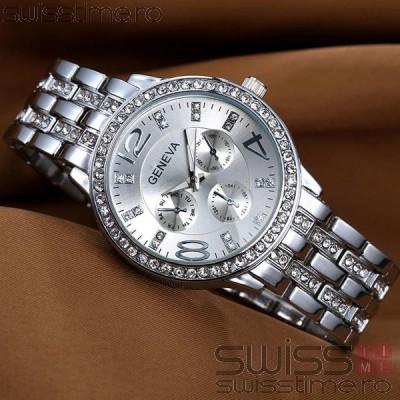 Ceas Dama Quartz Geneva Crystal Select