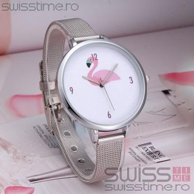 Ceas Dama Quartz Flamingo