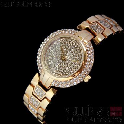 Ceas Dama Quartz Geneva Crystal Luxury