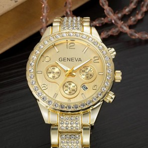 Ceas Dama Quartz Geneva Crystal Glazed