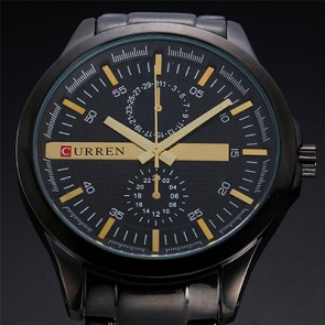 Ceas Quartz Curren Limited Gold Edition
