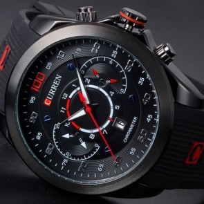 Ceas Quartz Curren Chronmeter Black
