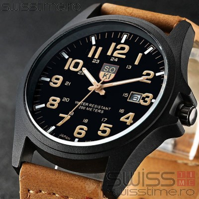 Ceas Quartz Soki Military
