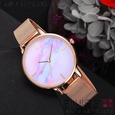 Ceas Dama Quartz Pink Marble