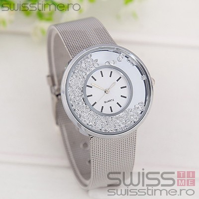 Ceas Dama Quartz Diamond Rain