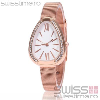 Ceas Dama Quartz Crystal One Pink