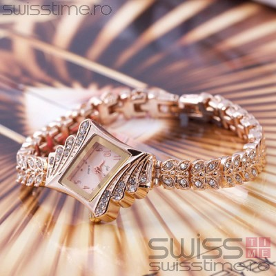 Ceas Dama Quartz Jw Diamond Luxury