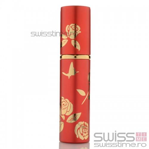 Pulverizator elegant de parfum 10ml reincarcabil 6012ACM-rosu
