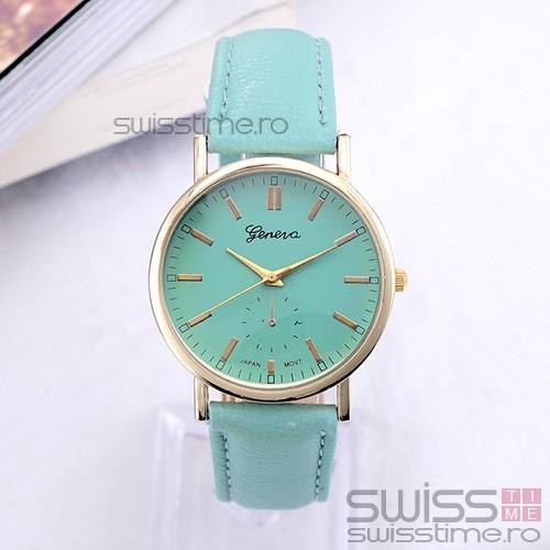 Ceas Dama Quartz Geneva Chic Color-verde mint