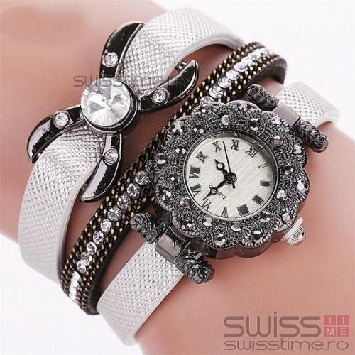 Ceas Dama Quartz Royal Bow-silver