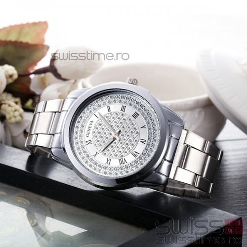 Ceas Dama Quartz Geneva Fanciful-silver