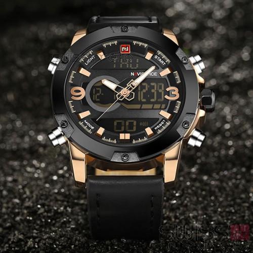 Ceas Quartz NAVIFORCE Vision-rose gold-negru