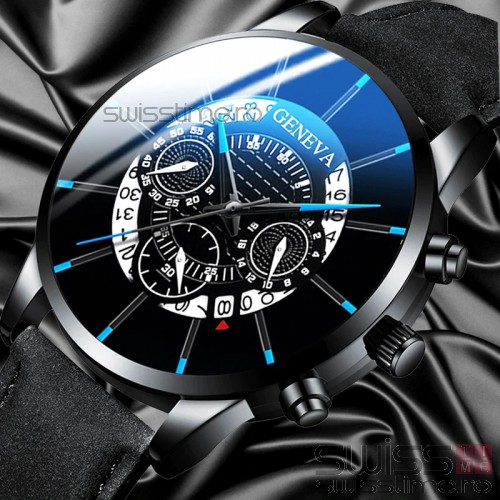 Ceas Quartz Geneva Black Spider