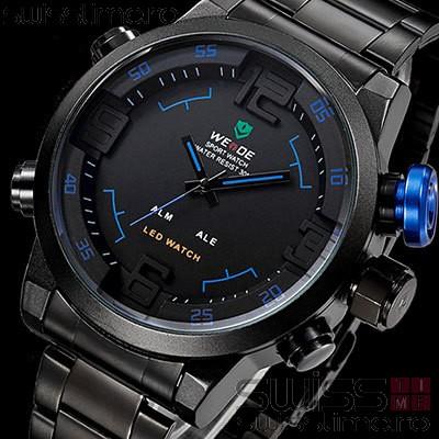 Ceas Quartz WEiDE Black Shade WH2309B-1C -albastru