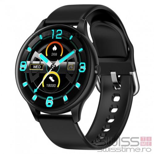 Ceas Sport Fitness Tracker Smartwatch K21-negru
