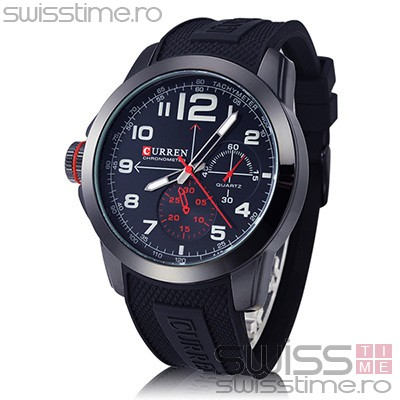 Ceas Quartz Curren Black Shadow