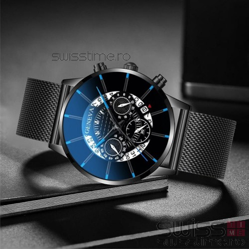 Ceas Quartz Geneva Dark Spider