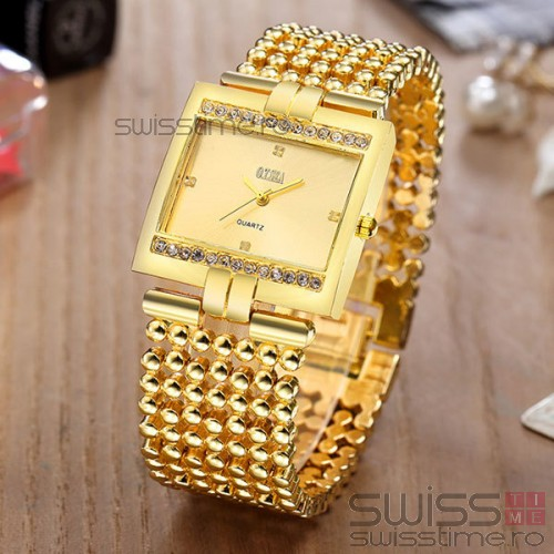 Ceas Dama Quartz Exclusive-gold