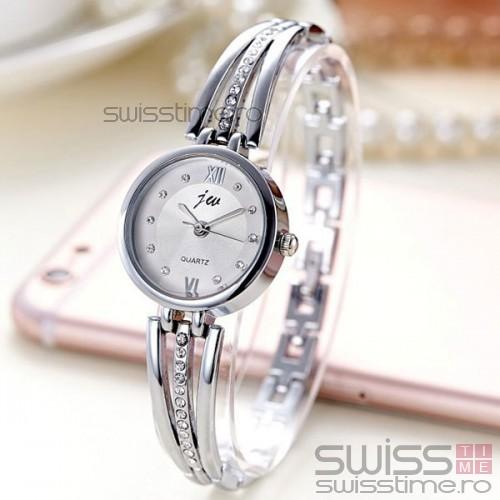 Ceas Dama Quartz jw Crystal Grace-silver