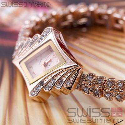 Ceas Dama Quartz Geneva Diamond Luxury