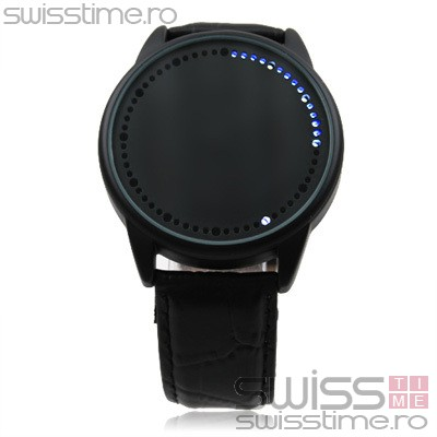 Ceas Quartz Electronic Abyss Steel LED Touchscreen-negru