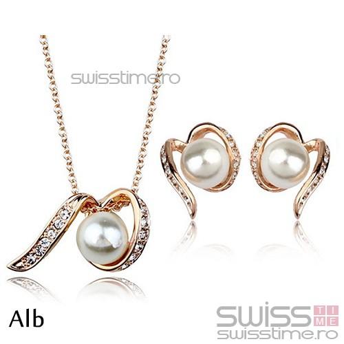 Set Tangled Pearl-Alb
