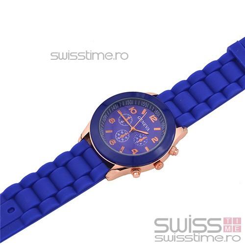 Ceas Dama Quartz Geneva Joy -albastru