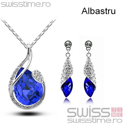Set Crystal Water Drop-Albastru