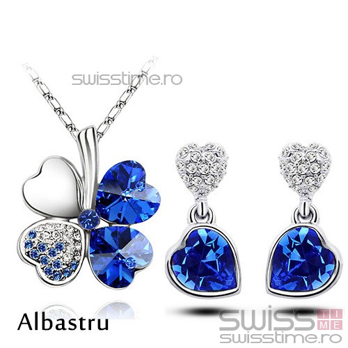 Set Lucky Heart-Albastru