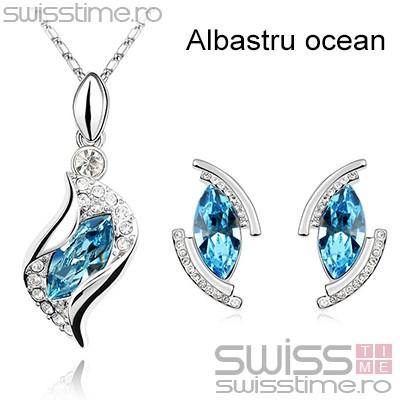 Set Bent Diamonds-Albastru ocean