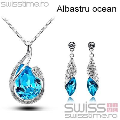 Set Crystal Water Drop-Albastru ocean