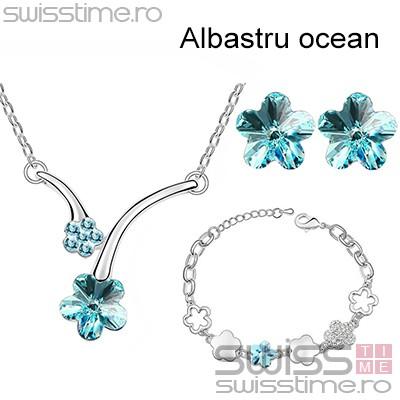 Set Spring Pastel Flowers-Albastru ocean