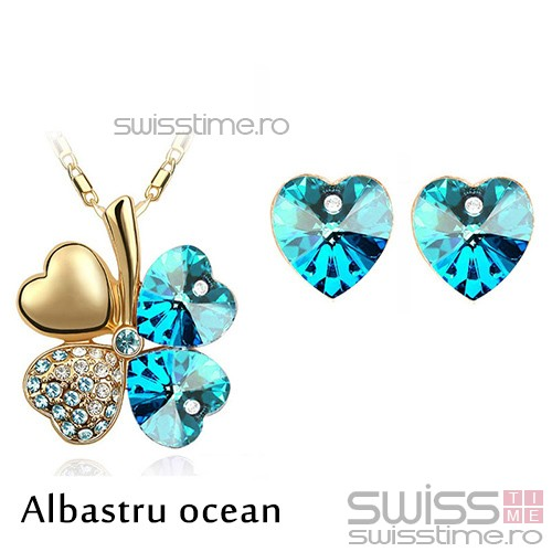 Set Four Hearts-Albastru ocean