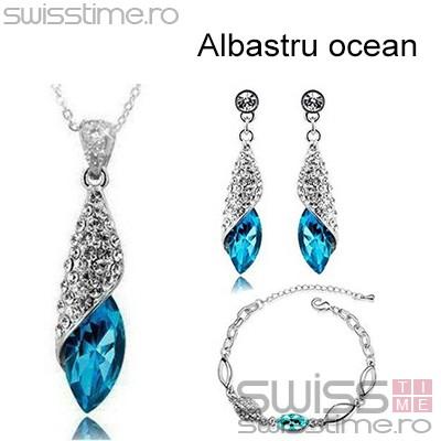 Set Diamond Water Drops-Albastru ocean