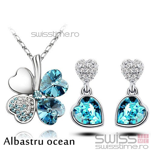 Set Lucky Heart-Albastru ocean
