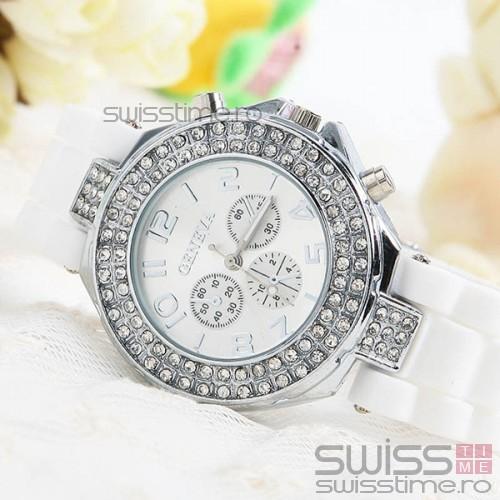 Ceas Dama Quartz Geneva Crystal Select Joy-alb