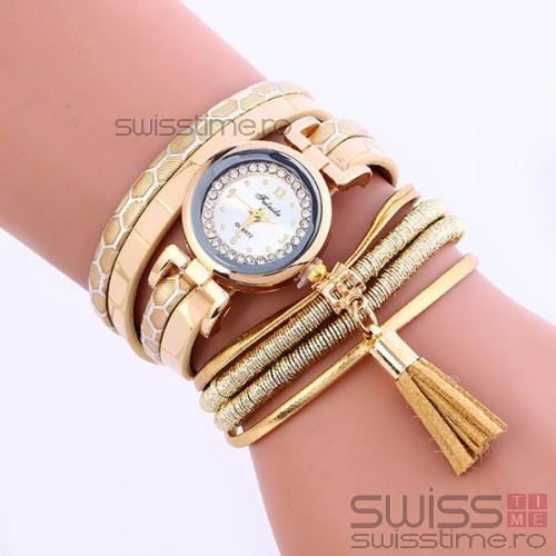 Ceas Dama Quartz Gold Graze-gold