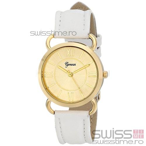 Ceas Dama Quartz Geneva Desire Luxury-gold - alb