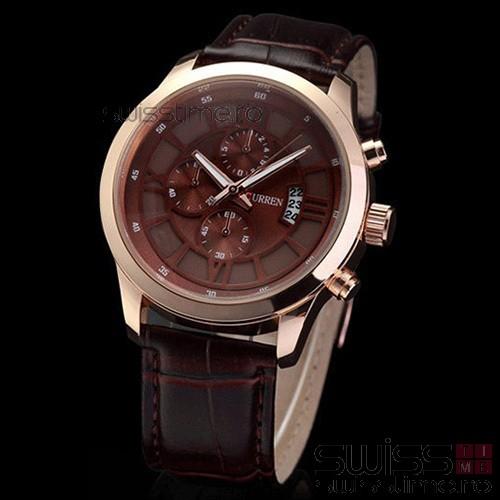 Ceas Quartz Curren Hour Vision-gold