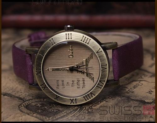 Ceas Dama Quartz Paris Vintage Time-mov