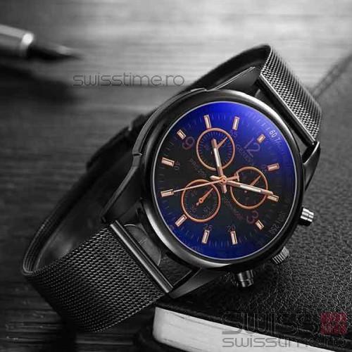 Ceas Quartz Geneva Private-negru-rose