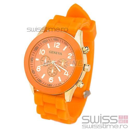 Ceas Dama Quartz Geneva Joy -orange