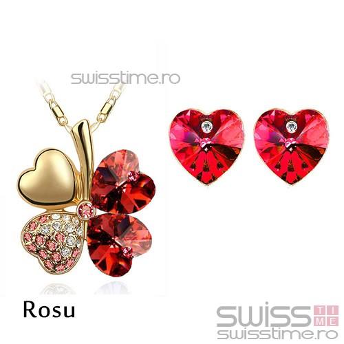 Set Four Hearts-Rosu