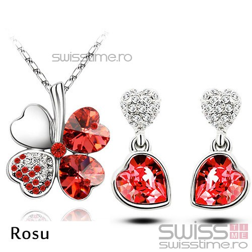 Set Lucky Heart-Rosu