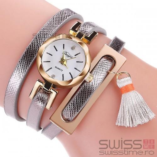 Ceas Dama Quartz Dressy-silver