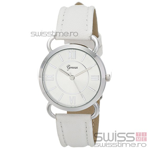 Ceas Dama Quartz Geneva Desire Luxury-silver - alb