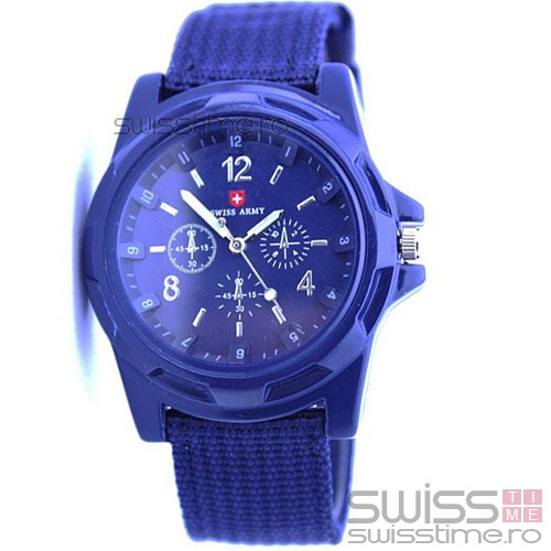 Ceas Quartz Swiss Army -albastru