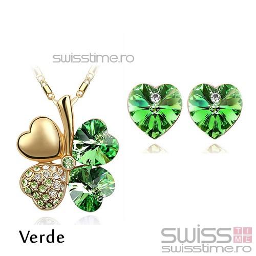 Set Four Hearts-Verde