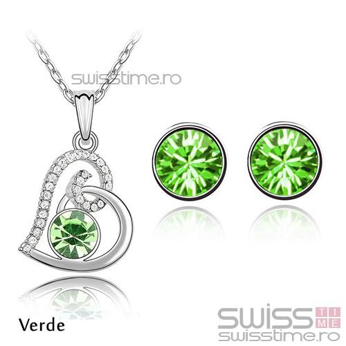 Set Crystallized Heart-Verde