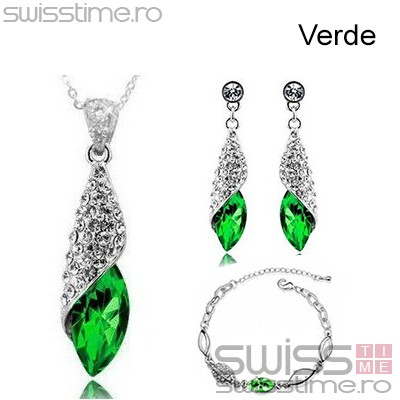Set Diamond Water Drops-Verde